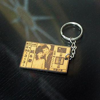身份証鑰匙圈-皮革